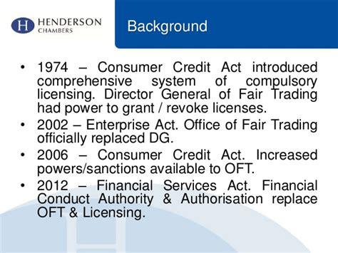 Consumer Credit Act Formula Authorisation The New Consumer Credit Regime