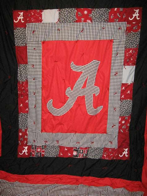 roll tide university of alabama handmade football fan 54 best quilts roll tide quilts images on pinterest