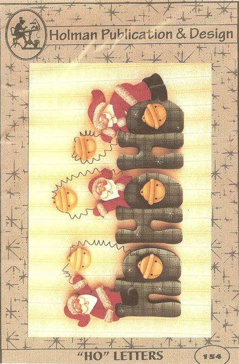Wood For Decorative Painting by Ho Ho Wood Letters Tole Painting Pattern Santa Wood