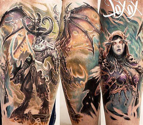 illidan tattoo 25 world of warcraft tattoos that will your mind