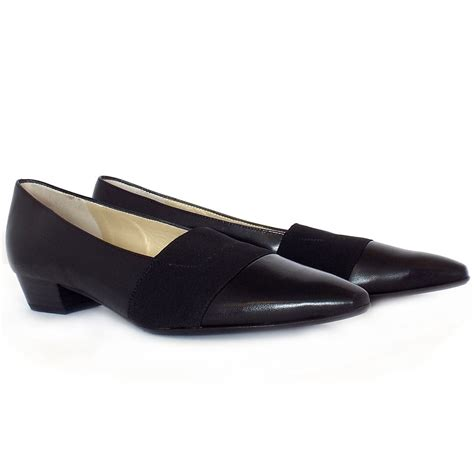 best black flat shoes kaiser lagos pointed toe low heel shoes in black