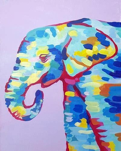 paint nite elephant paint nite elephant
