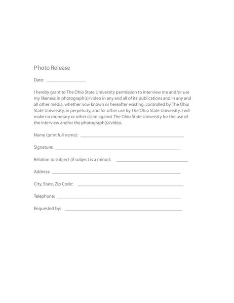 simple photo release form template 53 free photo release form templates word pdf