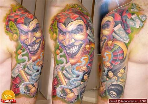 joker tattoo sleeve designs joker tattoo lovely full back joker design