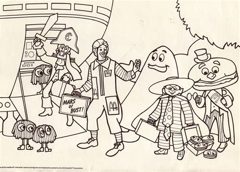 free coloring pages of ronald mc donalds