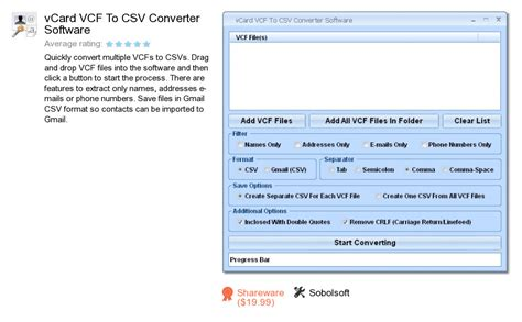 csv format software convert csv to vcard online