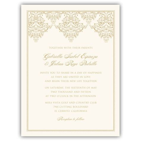 Ornate Scroll Frame Wedding Invitations   PaperStyle