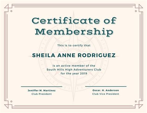 sle membership card template membership certificate templates 28 images membership