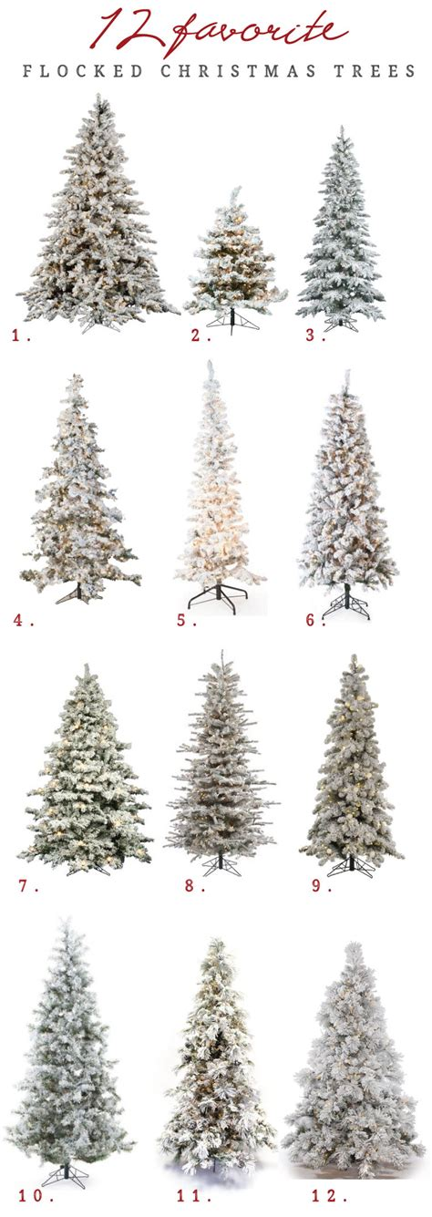 12 ft slim flocked christmas tree 12 of the best flocked trees in every size chris