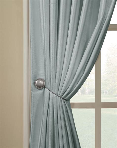 drapery hold back magnetic tieback pair curtainworks com