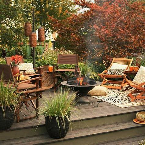 backyard decor ideas 30 fall decorating ideas and tips creating cozy outdoor