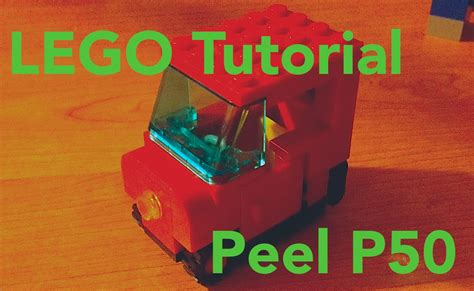 lego watch tutorial lego tutorial 1 peel p50 smallest car ever youtube