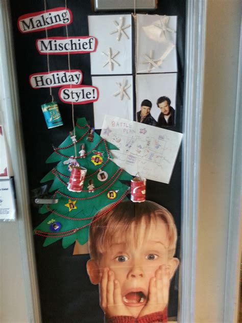 home alone christmas decorations home alone classroom door librarianism pinterest