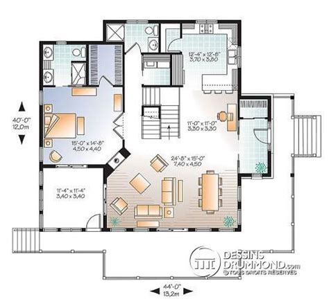 Walkout Basement Designs by D 233 Tail Du Plan De Maison Unifamiliale W3914 V2