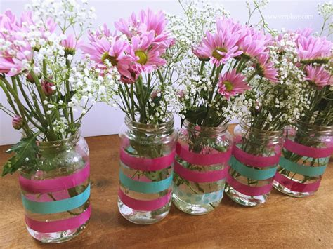 diy florero idea para reutilizar los frascos de vidrio - Floreros Con Frascos De Vidrio