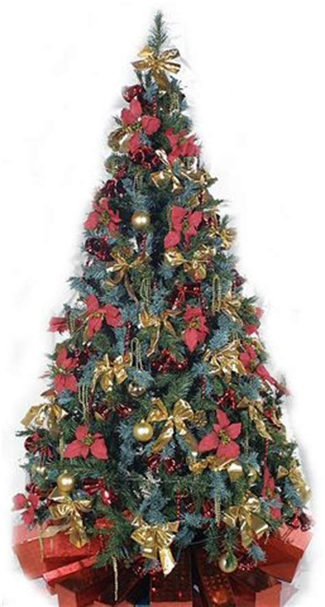 artificial pre lit and pre decorated christmas tree