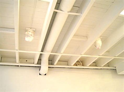 basement ceiling insulation r value basement remodel floor plan with exposed ductwork homelk