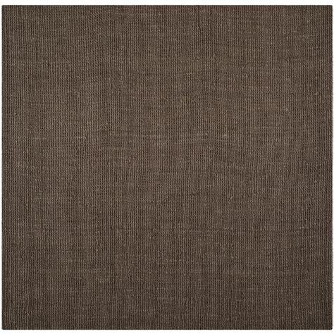 brown square rug shop safavieh fiber bellport brown square indoor handcrafted coastal area rug common 8