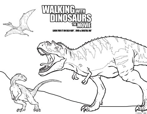 Dinosaur Fun For Movie Night Walking With Dinosaurs The At The Museum Coloring Pages