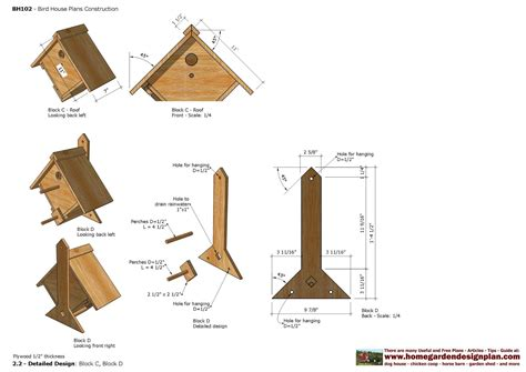 construction of house plans home garden plans bh bird house plans construction bird house design