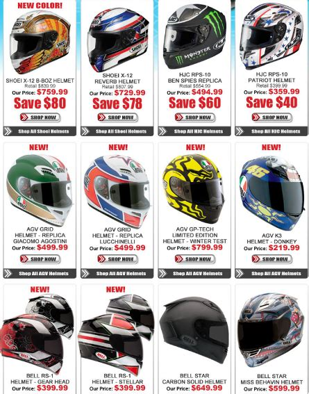 Check Out All Of The New Motorcycle Helmets At