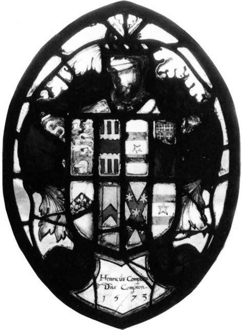 heraldic panel with arms of compton corpus vitrearum usa