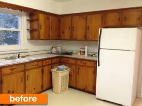 Fifties Kitchen Cabinets Before After A 1950s Kitchen Gets A Modern Diy Makeover Apartment Therapy