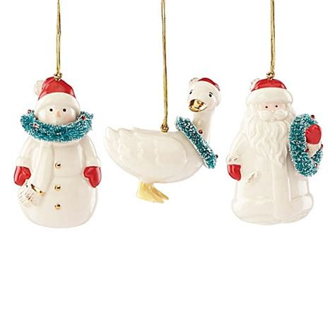 buy lenox 174 3 piece very berry merry ornament set from bed