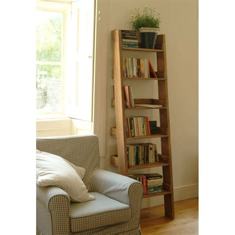 Wall Bookcase Oak Ladder Shelf Ideal Home Show Shop