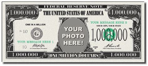 million dollar bill template bing images