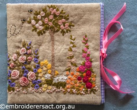 embroidered garden flowers botanical motifs for needle and thread make crafts books knot hydrangeas embroiderers guild act