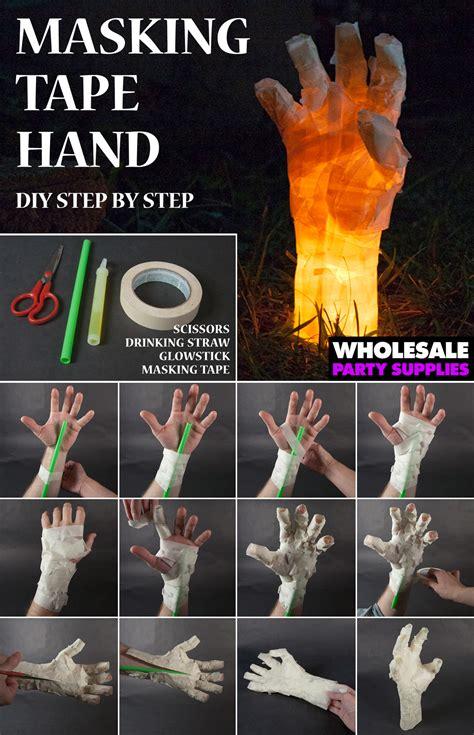 halloween diy diy masking tape hand prop wholesale halloween costumes blog