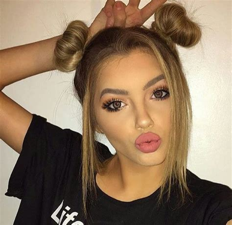 Hair And Makeup Tumblr | girls goals hair makeup pretty image 3985234 by