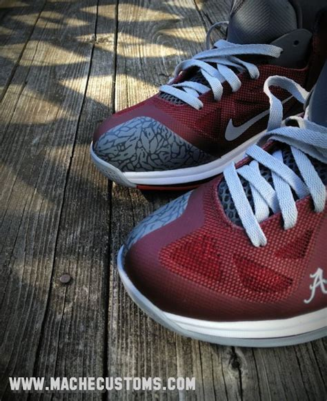 alabama football shoes alabama quot roll tide quot custom nike lebron 9 shoes by mache