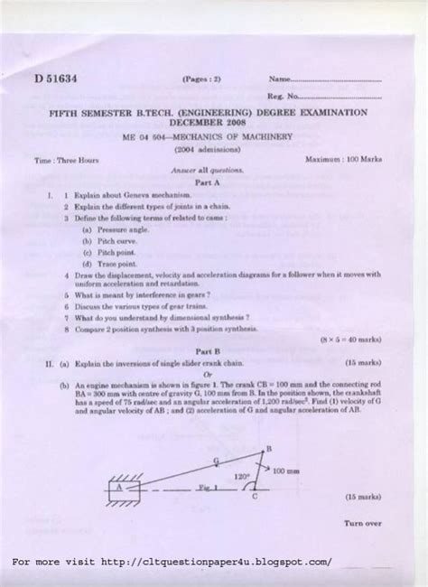 design for manufacturing question paper calicut university mechanical engineering 5th sem