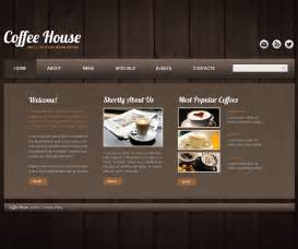coffee shop website template web design templates