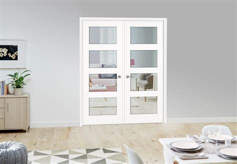 French Style Bedroom 4l white primed internal french doors climadoor