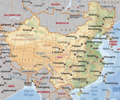 physical map of china political physical maps of china free printable maps