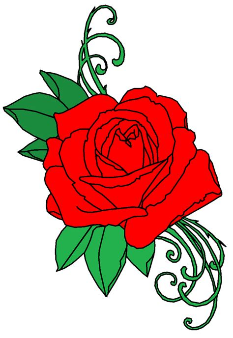 rose tattoo clipart png transparent free images png only
