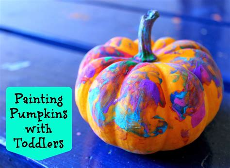 painting pumpkins for toddler school archives bare on the dashboard