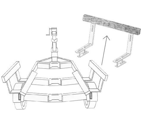 boat trailer roller dimensions boat trailer guides bunk guide ons 2 ft long ve ve inc