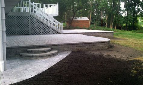 patio retaining walls retaining wall patio westchester county ny d d tree and