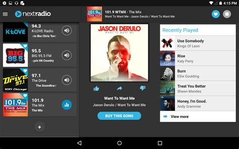 fm radio for android nextradio free live fm radio android apps on play