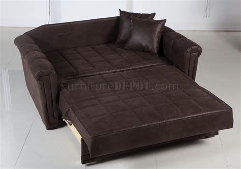 bed loveseat chocolate specially treated microfiber modern loveseat bed