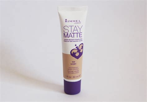 Rimmel Stay Matte Foundation rimmel stay matte liquid mousse foundation ivory 100