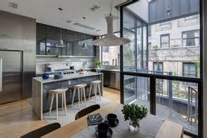 Townhouse Design Contemporary Appearance Camouflaging Brooklyn Roots Slate