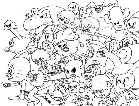 coloring pictures of the amazing world of gumball all characters from amazing world of gumball coloring