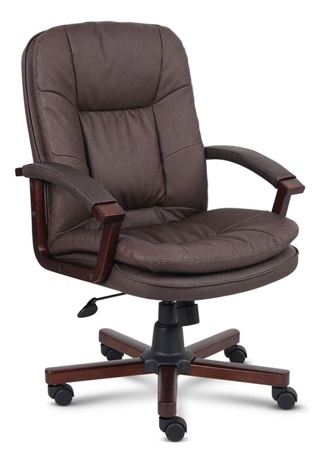 Brown Leather Office Chair Design Ideas Brown Bomber Leather Office Chair By Cole Designs Hom Furniture