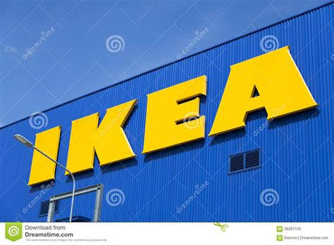 ikea stock the ikea store editorial stock image image 58281159