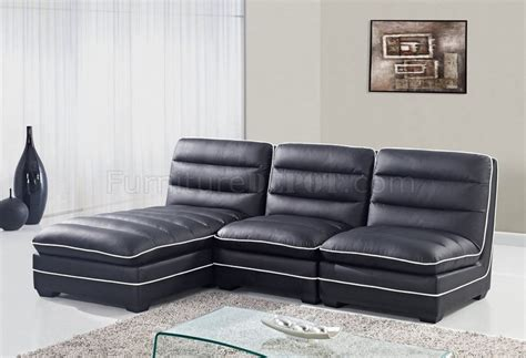 bonded leather sectional u4150 sectional sofa black bonded leather global